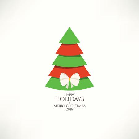 greeting christmas: Christmas and New Year. Vector greeting card Illustration