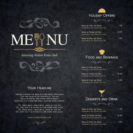 レストラン メニュー デザイン