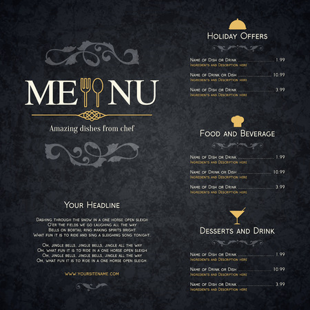 barra de bar: Dise?o del men? del restaurante