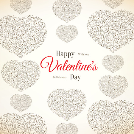 devider: Valentines day card Illustration
