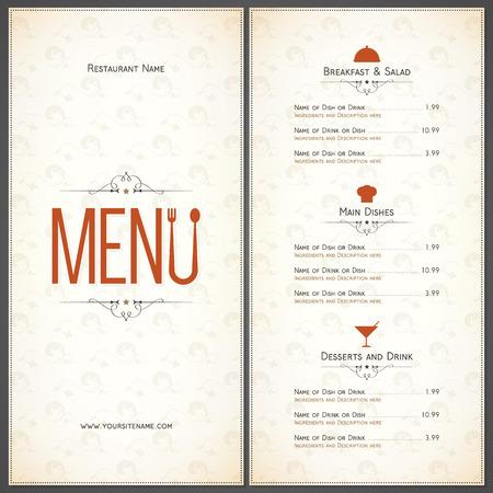 old houses: Restaurant menu design