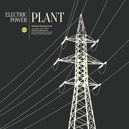 Abstracte schets gestileerde achtergrond. Elektriciteitscentrale Vector Illustratie