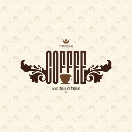 eleganz: Vintage-Logo für Café, Cafeteria, Bars, Restaurant, Teestube Illustration