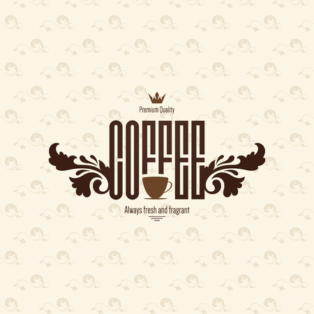 logotype: Vintage logotype for coffee house, cafeteria, bars, restaurant, tea shop Illustration