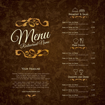 menu design: Restaurant menu design