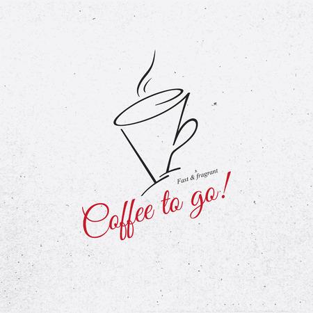 cafeteria: Vintage logotype for coffee house, cafeteria, bars, restaurant, tea shop Illustration