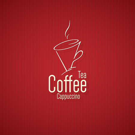 Vintage logotype for coffee house, cafeteria, bars, restaurant, tea shop Illustration