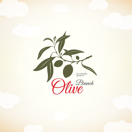 olive: Olive label, logo design. Olive branch