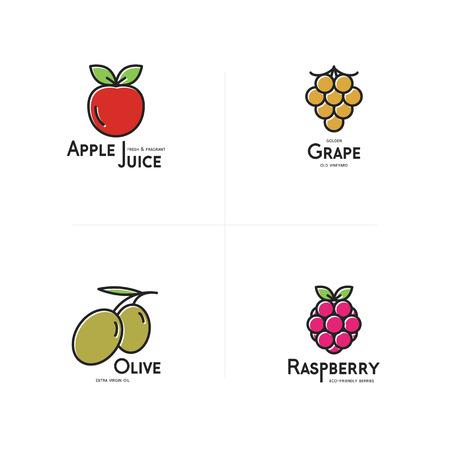 raspberry: Fruits icon set