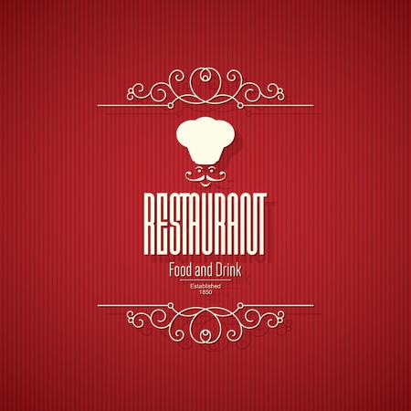 retro restaurant: Retro restaurant menu design