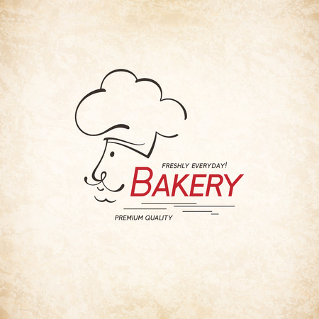 Vintage logotype for bakery