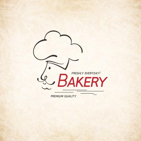 Vintage logotype for bakery