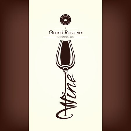 Logotype for wine shop, winery, wine list, restaurant Illustration