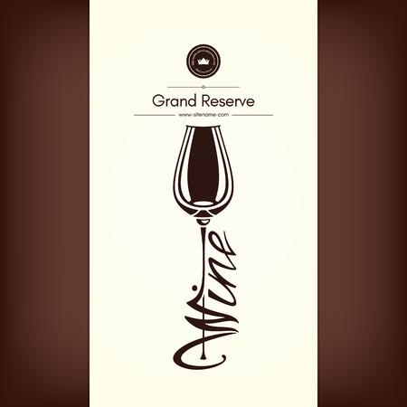 Logo voor wijn winkel, wijnmakerij, wijnkaart, restaurant