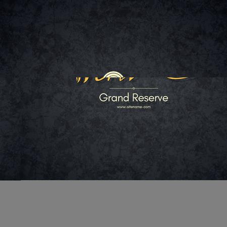 reserves: Logotype for wine shop, winery, wine list, restaurant Illustration