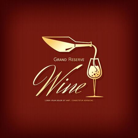 wineries: Logotype for wine shop, winery, wine list, restaurant Illustration