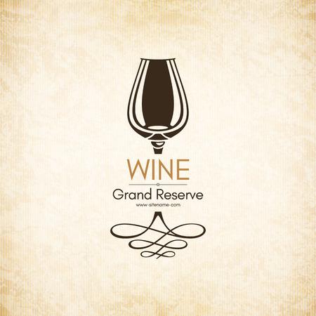 logotype: Logotype for wine shop, winery, wine list, restaurant Illustration