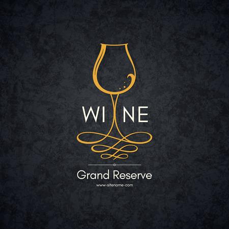 Logotyp dla sklepu winiarskiego, Wytwórnia win, win, restauracja