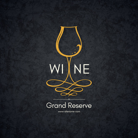 Logotype for wine shop, winery, wine list, restaurant Illustration