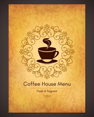 menu card: Menu for restaurant, cafe, bar, coffee house