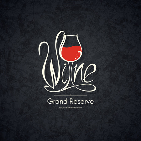 wine background: Logotype for wine shop, winery, wine list, restaurant Illustration