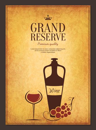 grape vines: Logotype for wine shop, winery, wine list, restaurant Illustration