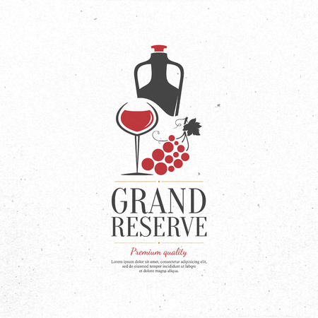 grape vines: Wine list design. Illustration