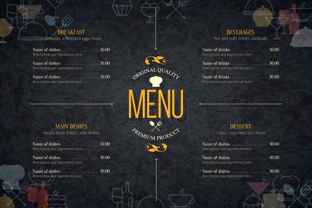 Restauracja menu Projekt. Ilustracje wektorowe