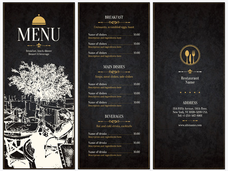 restaurante: Restaurant menu design.