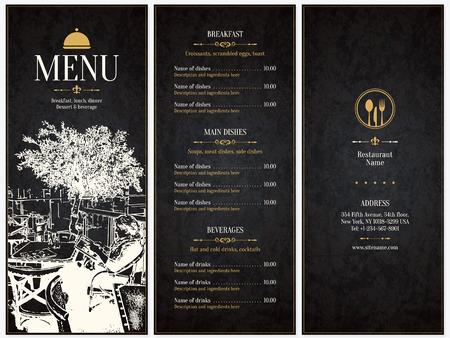 cafe menu: Restaurant menu design.