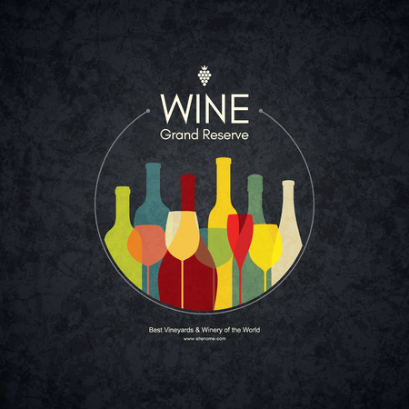 Wine list design. Vettoriali