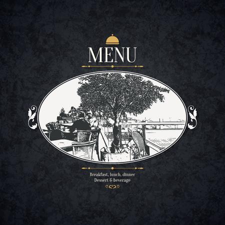 Conception de menu du restaurant.