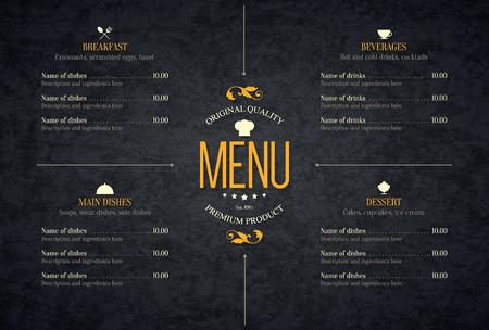 レストラン メニュー デザイン。