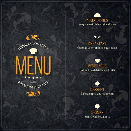 coffeehouse: Restaurant menu design.