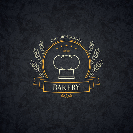 bread shop: Vintage logotype for bakery and bread shop.