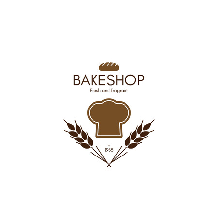 bread shop: Vintage  for bakery and bread shop. Food and drinks  symbol design