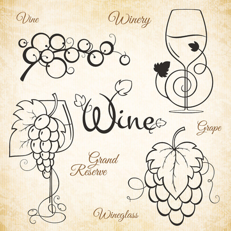 winery: for winery, vineyard, wine shop, wine list. Food and drinks  symbol design