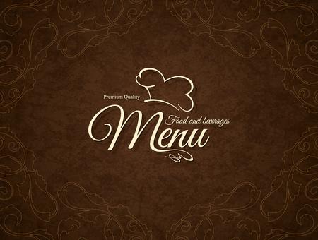 cafe menu: Restaurant menu design. Vector menu brochure template for cafe, coffee house, restaurant, bar. Food and drinks  symbol design