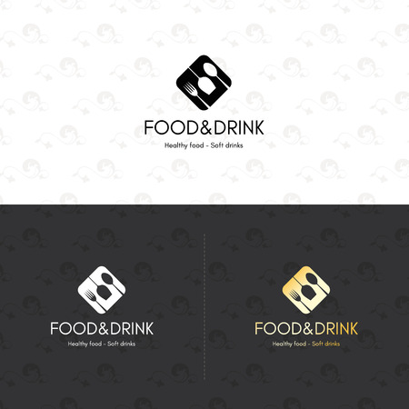 restaurant bar: Food and drinks  symbol, for cafe, coffee house, restaurant, bar. With a spoon, fork, wineglass