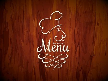 conception du menu des restaurants. Vector brochure modèle pour café, café, restaurant, bar. Aliments et boissons symbole logotype design. Vintage background