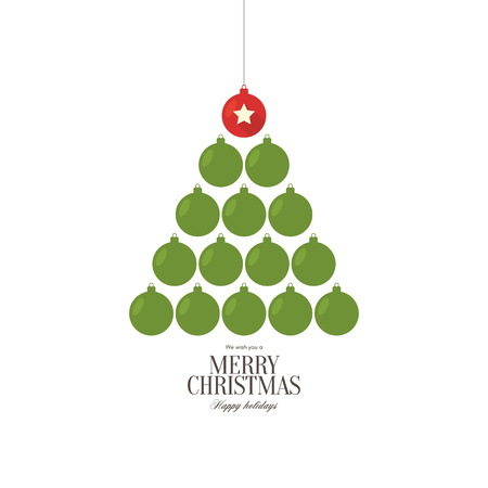 vector ornament: Christmas and New Year. Vector greeting card with Christmas of the ornament balls