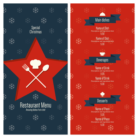 new icon: Special Christmas festive menu design Illustration