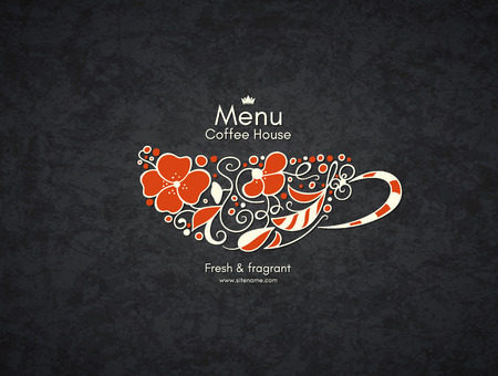 coffee house: Restaurant or coffee house menu design.