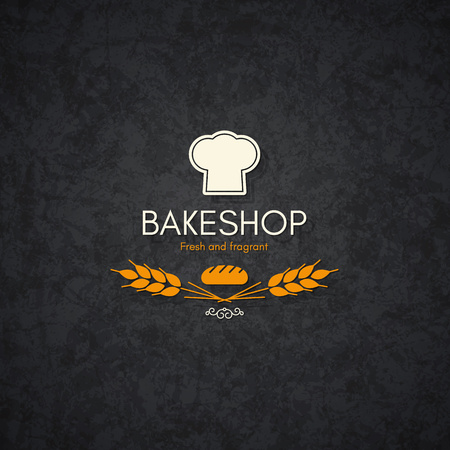 bread shop: Vintage logotype for bakery and bread shop Illustration