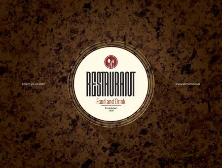 logos restaurantes: Diseño del menú del restaurante. Modelo del folleto del menú del vector para el café, el café, restaurante, bar. diseño de alimentos y bebidas símbolo logotipo