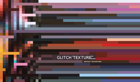 digital: Glitch effect background design Illustration