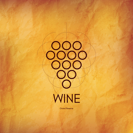 paper texture: Wine list design. Vector brochure template for winery, cafe, restaurant, bar