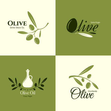 Olive label, logo design. Olive branch Stock fotó - 81939801