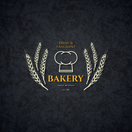 brand identity: Vintage logotype for bakery and bread shop Illustration