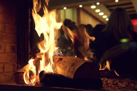Blurred restaurant of a prestigious hotel